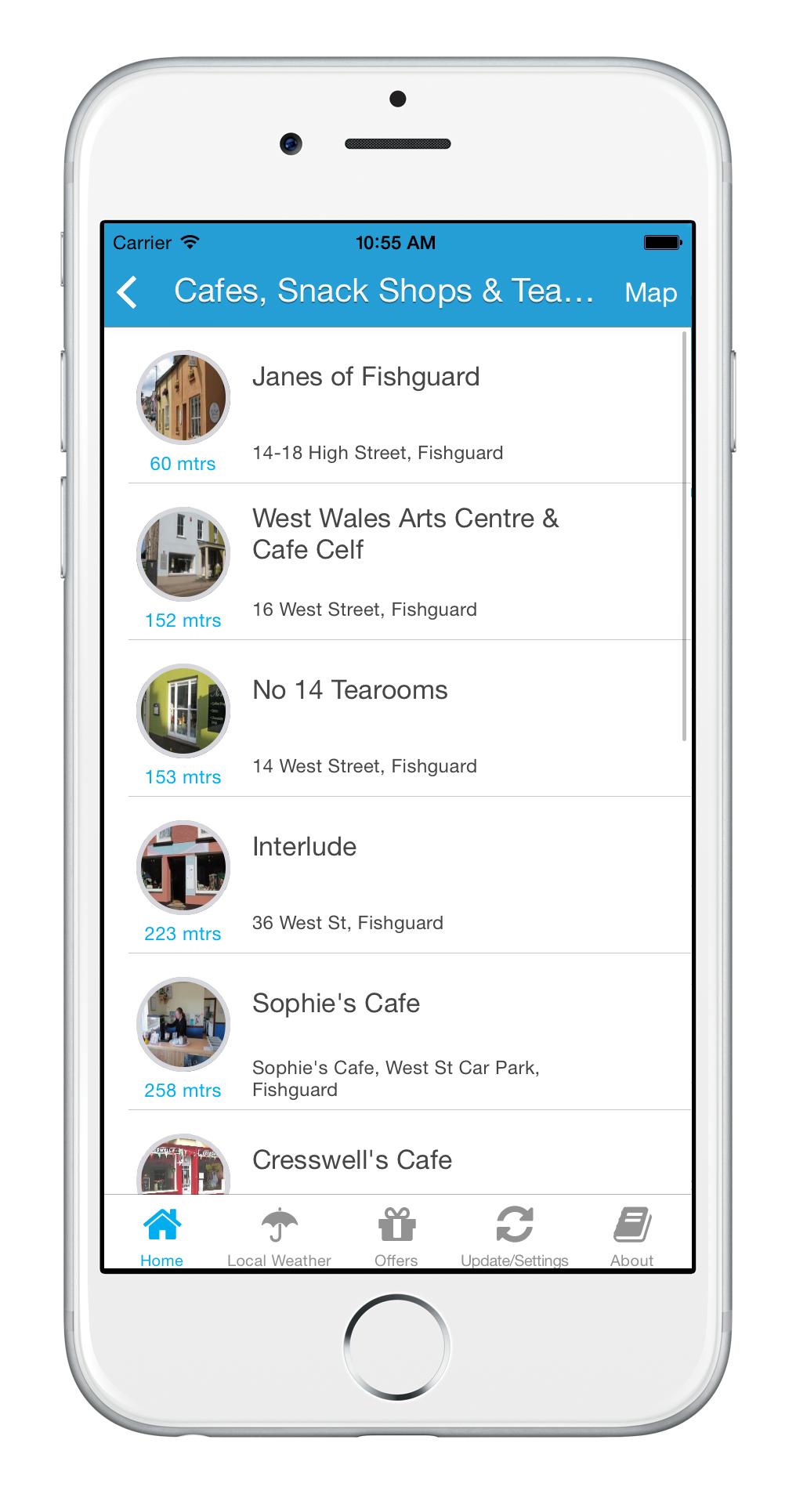 Fishguard Bay App Business Listings