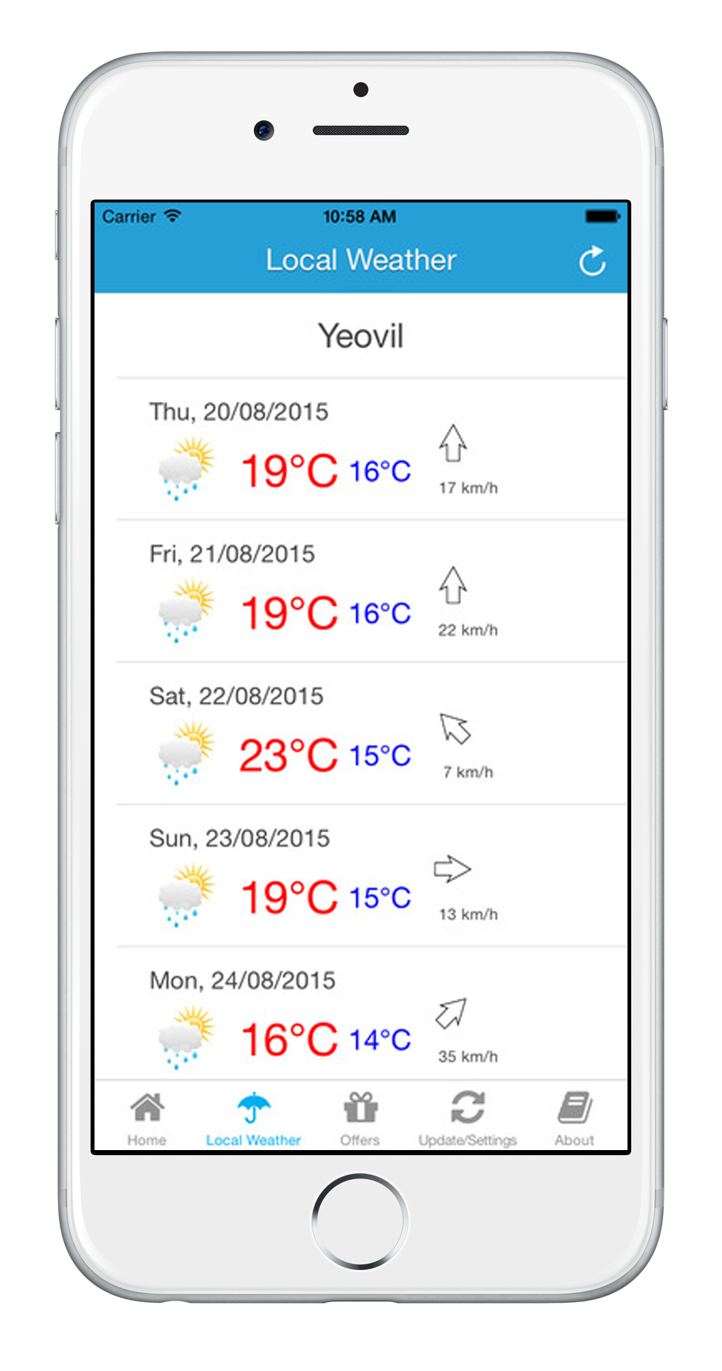 7 day weather forecast Yeovil, Yeovil Town Guide App, Somerset