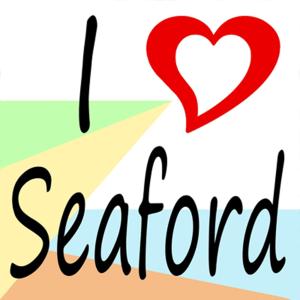 """I heart Seaford"" - Seaford App Icon"