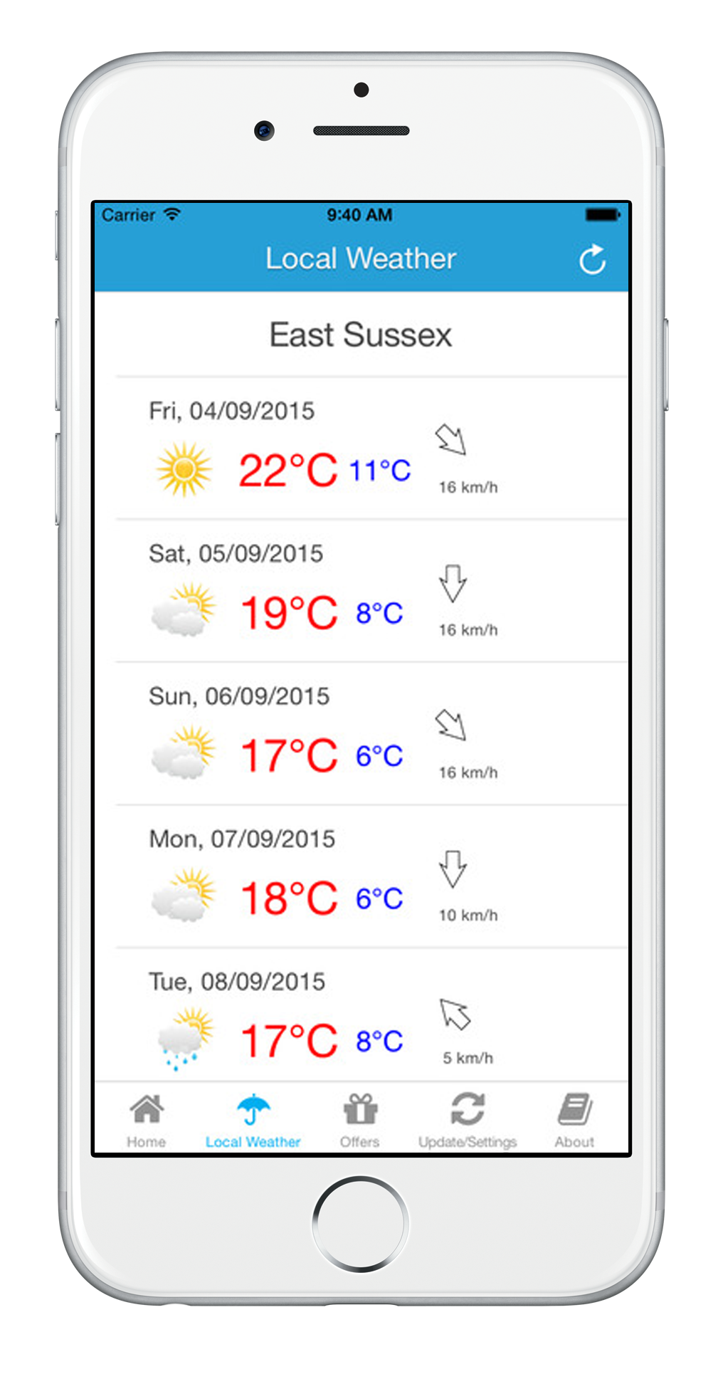 Love East Sussex App - East Sussex Weather