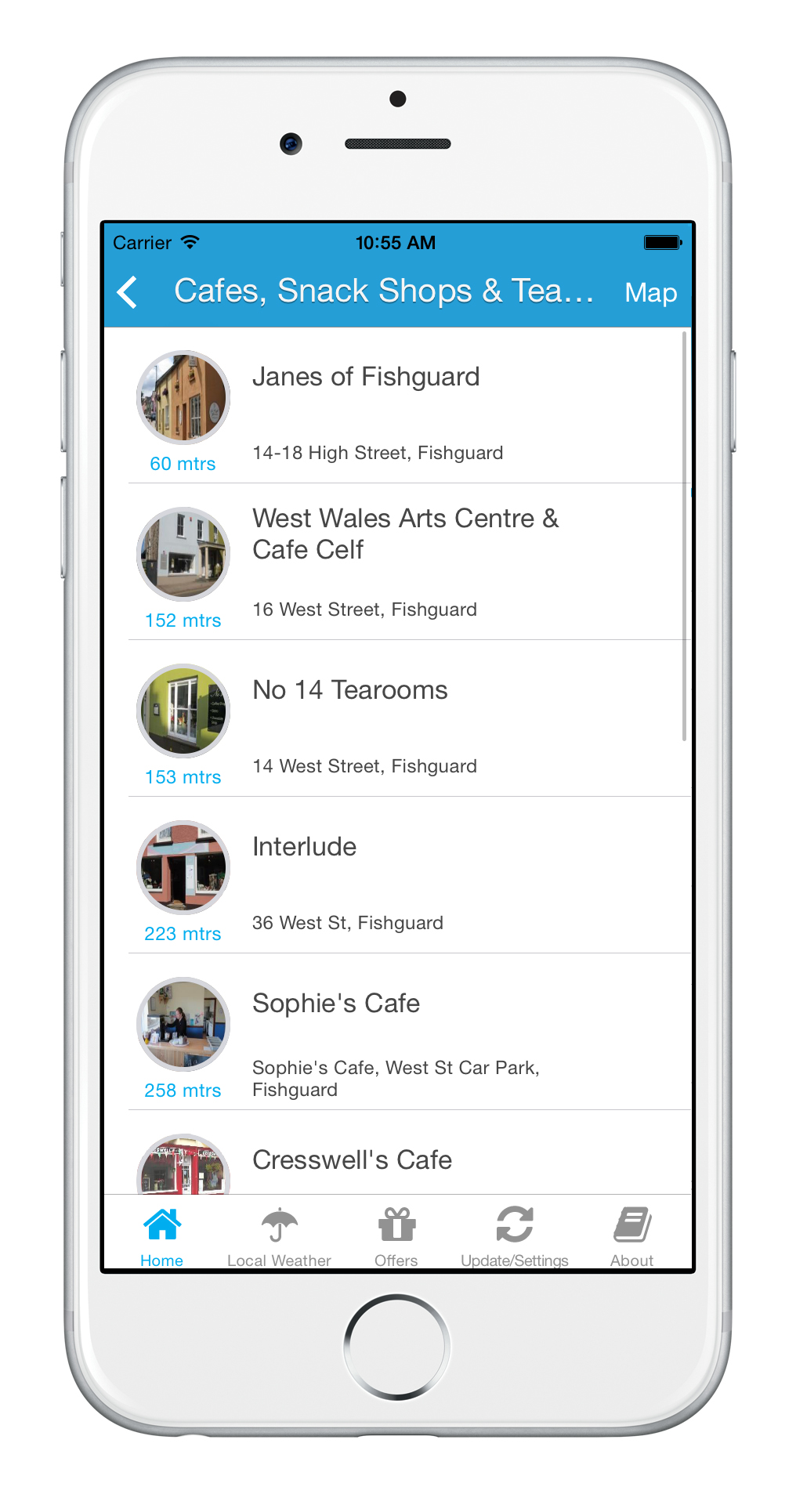 Fishguard Bay App Business Listings