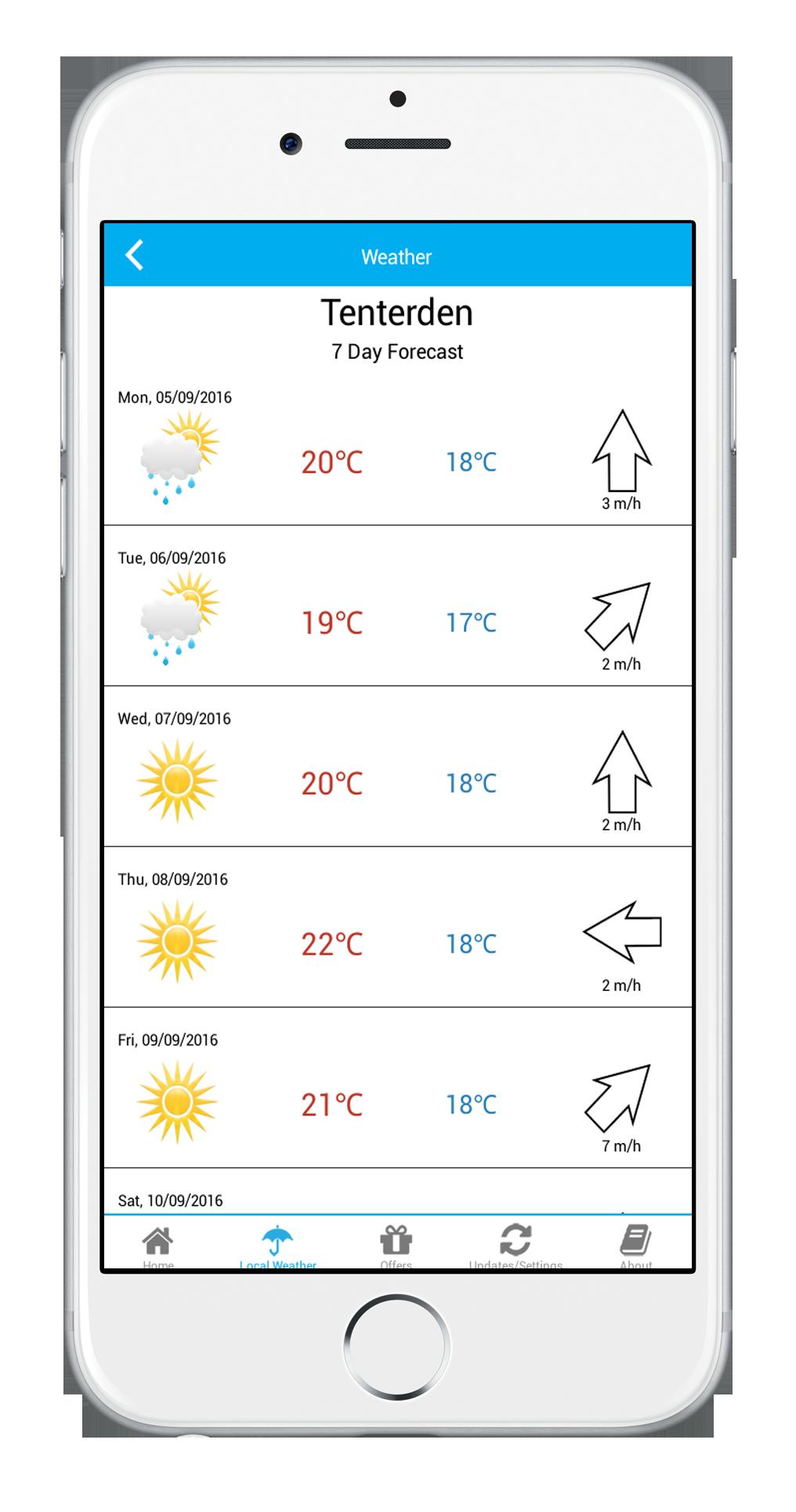 Plan your trip - weather,maps, gps in TENTERDEN